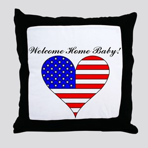 Welcome Home Baby! Throw Pillow