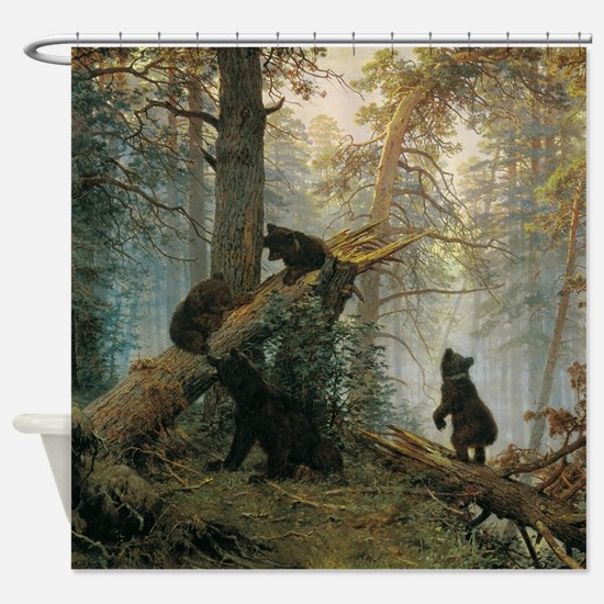 Ivan Shishkin Morning In A Pine For Shower Curtain