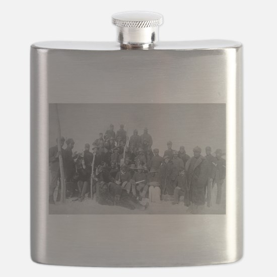Black Buffalo Soldiers of the 25th Infantry Flask