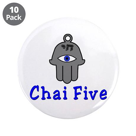 "Chai five 3.5"" Button (10 pack)"