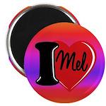 I Love Mel Custom Magnet