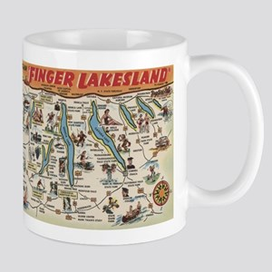 Greetings From Finger Lakes, New York View Mugs