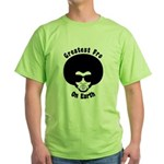 Greatest Fro On Earth Green T-Shirt