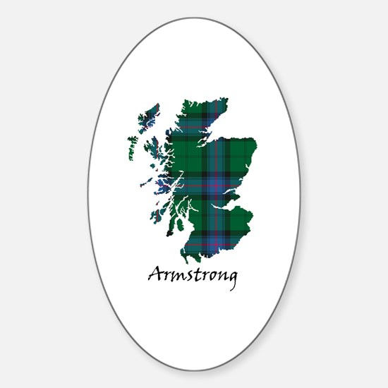 Map - Armstrong Sticker (Oval)