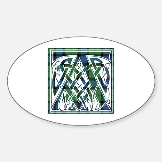 Monogram - Armstrong Sticker (Oval)