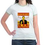Support The War Against Terro Jr. Ringer T-Shirt