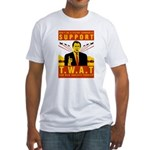 Support The War Against Terro Fitted T-Shirt