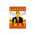 Support The War Against Terro Sticker (Rectangular