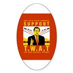 Support The War Against Terro Oval Sticker