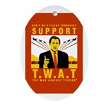 Support The War Against Terro Oval Ornament