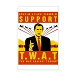 Support The War Against Terro Mini Poster Print
