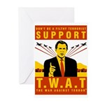 Support The War Against Terro Greeting Cards (Pk o