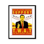 Support The War Against Terro Framed Panel Print