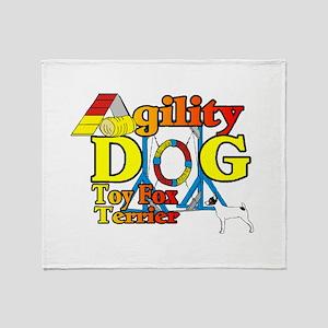 Toy Fox Terrier Agility Throw Blanket