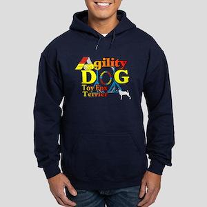 Toy Fox Terrier Agility Hoodie (dark)