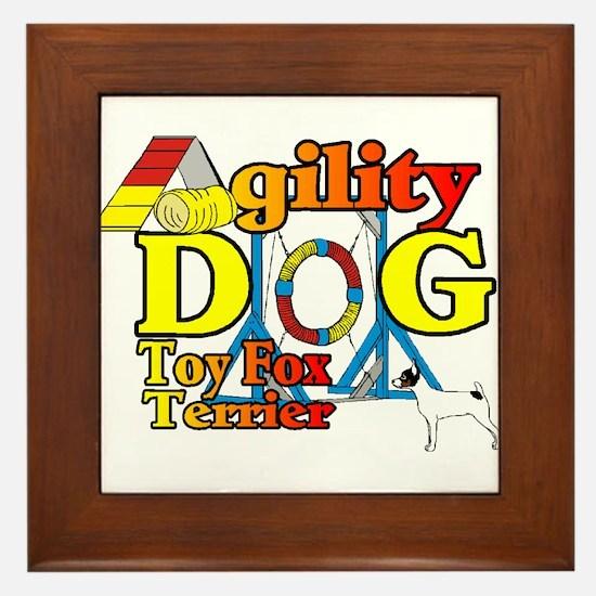 Toy Fox Terrier Agility Framed Tile