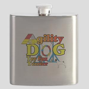 Toy Fox Terrier Agility Flask