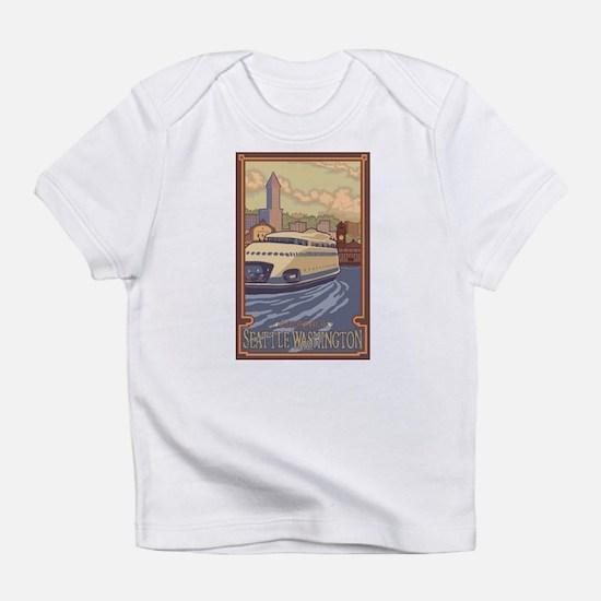 Seattle, Washington - Kalakala Ferry Infant T-Shir