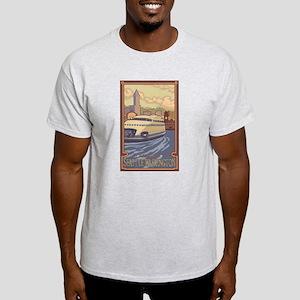Seattle, Washington - Kalakala Ferry T-Shirt