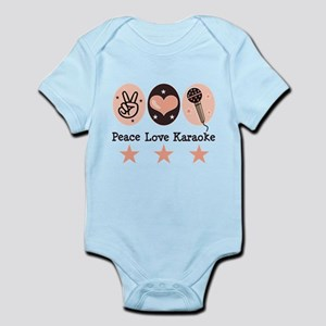 Peace Love Karaoke Infant Bodysuit