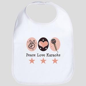 Peace Love Karaoke Bib