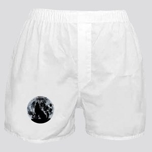 Wolf And Moon Boxer Shorts