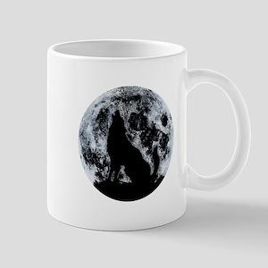 Wolf And Moon Mugs