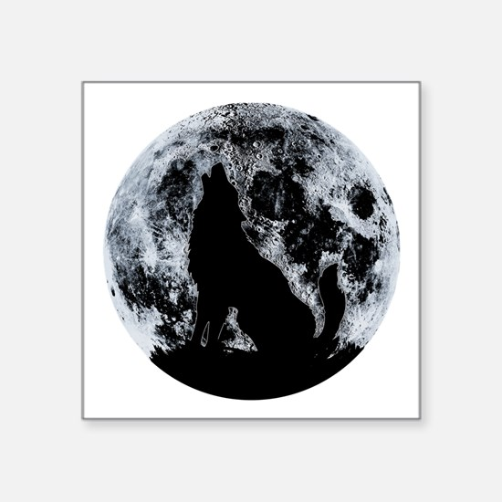 Wolf And Moon Sticker