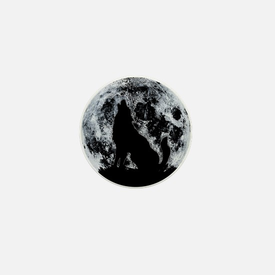 Wolf And Moon Mini Button