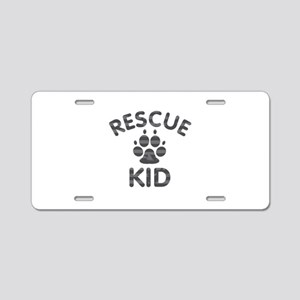 Rescue Dog Kid Aluminum License Plate