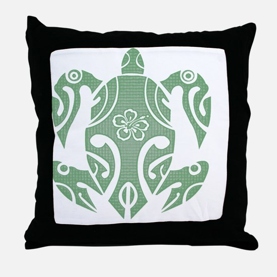 Cute Hawaii turtles Throw Pillow