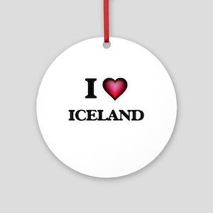 I love Iceland Round Ornament