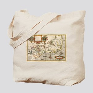 Vintage Map of North Carolina (1638) Tote Bag