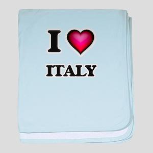 I love Italy baby blanket