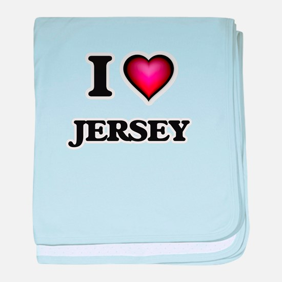 I love Jersey baby blanket