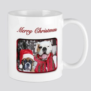 Christmas Boxer Dogs Stainless Steel Travel Mugs