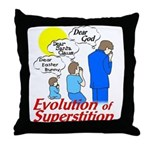 Evolution of Superstition Throw Pillow