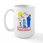 Evolution of Superstition Large Mug