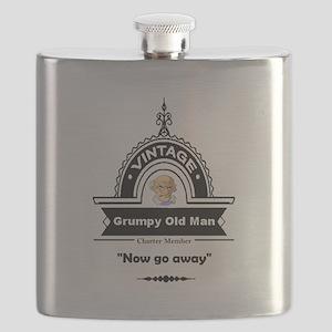 Fun Quote Grumpy Old Man Flask