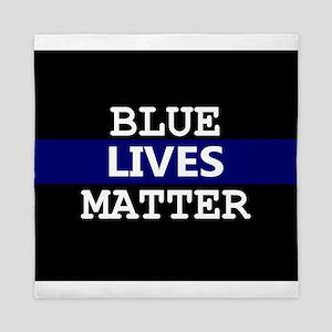 Blue Lives Matter Blue Stripe Queen Duvet