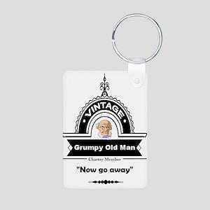 Fun Quote Grumpy Old Man Keychains