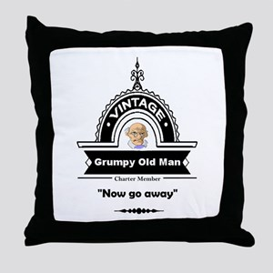 Fun Quote Grumpy Old Man Throw Pillow