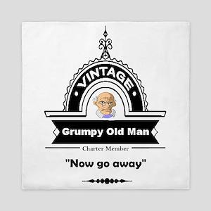 Fun Quote Grumpy Old Man Queen Duvet