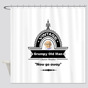 Fun Quote Grumpy Old Man Shower Curtain