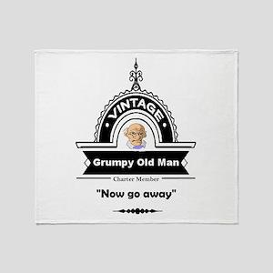 Fun Quote Grumpy Old Man Throw Blanket