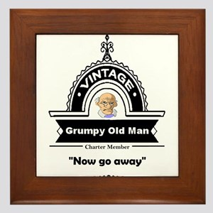 Fun Quote Grumpy Old Man Framed Tile