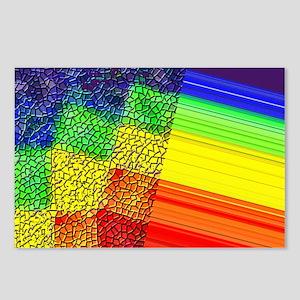 UNUSUAL RAINBOW PRIDE DESIGN Postcards (Package of