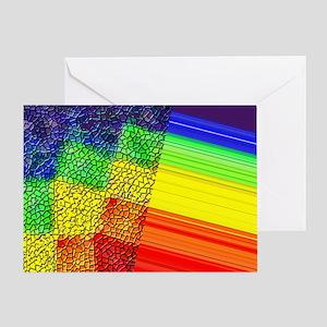 UNUSUAL RAINBOW PRIDE DESIGN/BITCH Greeting Card