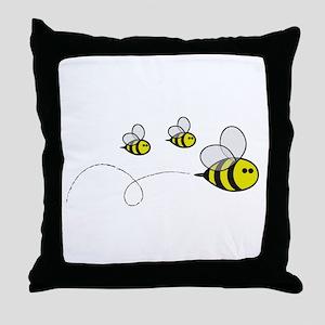 Bees!! Throw Pillow