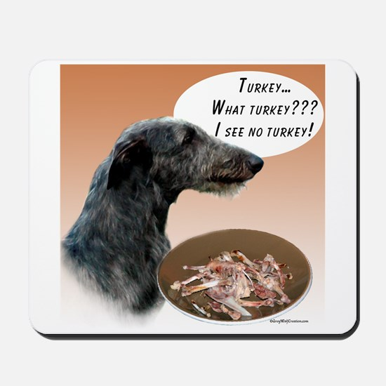 Deerhound Turkey Mousepad